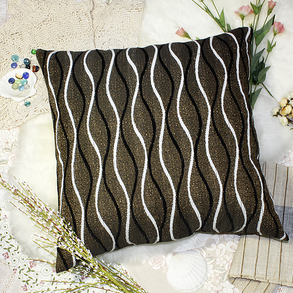 [brown Wave] Decorative Pillow Cushion / Floor Cushion (23.6 By 23.6 Inches)