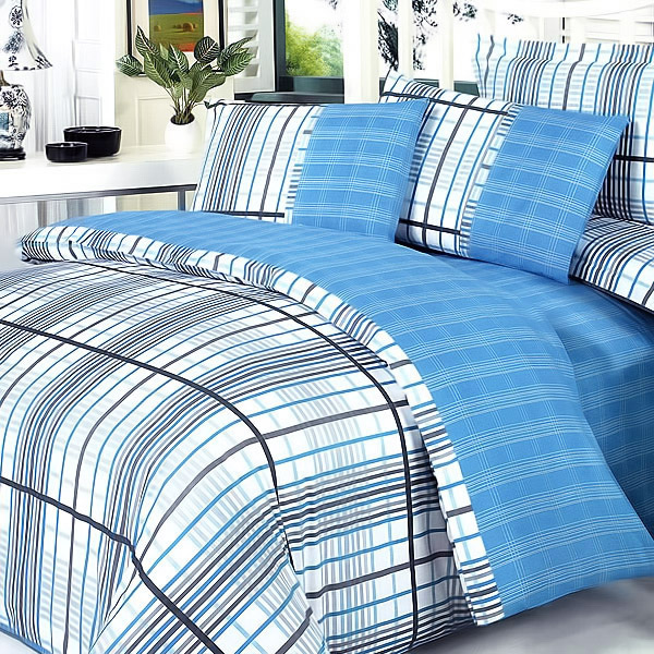 [Heart of Ocean] 100% Cotton 5PC Comforter Set (Full Size)