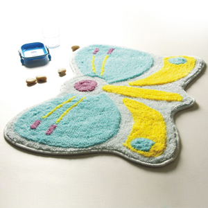 [Butterfly] Kids Room Rugs (18.5 by 24.8 inches)