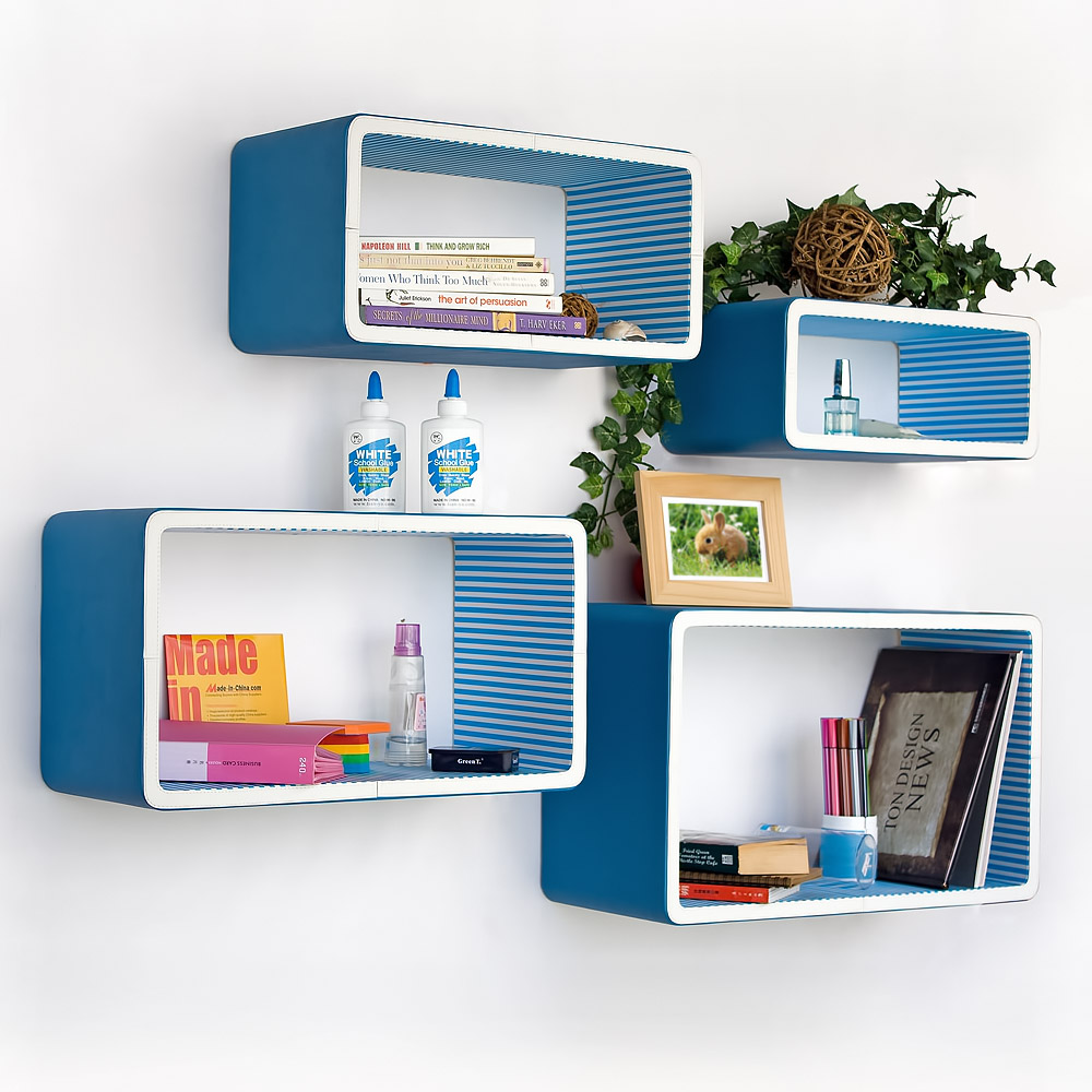 Rectangular Floating Wall Shelves