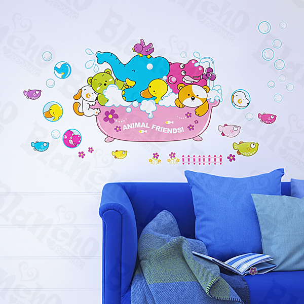 Animal Friends-2 - Medium Wall Decals Stickers Appliques Home Decor