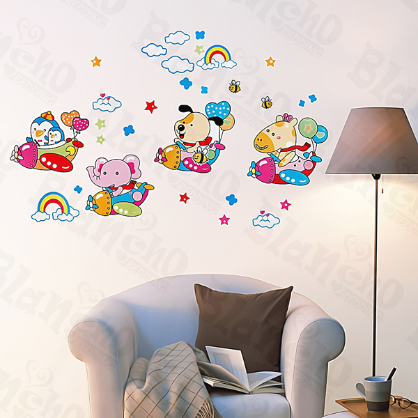 Animal Friends-3 - Medium Wall Decals Stickers Appliques Home Decor