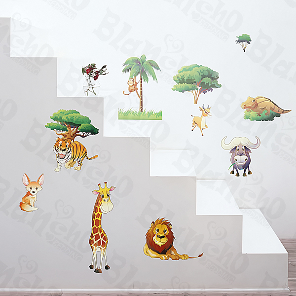 African Field - Medium Wall Decals Stickers Appliques Home Decor