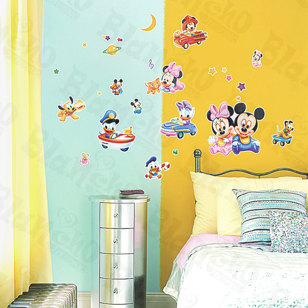 mickey mouse wall decals totally kids totally bedrooms 60x92 month plan calendar chalkboard blackboard vinyl wall