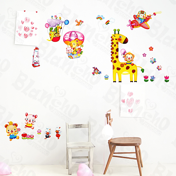 Animal Friends-4 - Medium Wall Decals Stickers Appliques Home Decor