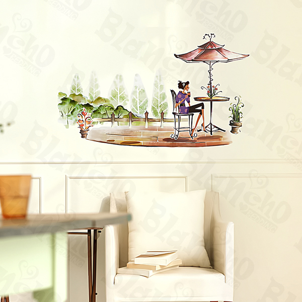 Afternoon Tea - Large Wall Decals Stickers Appliques Home Decor