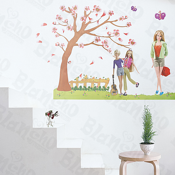 Barbie wall decals tktb for Barbie princess giant wall mural