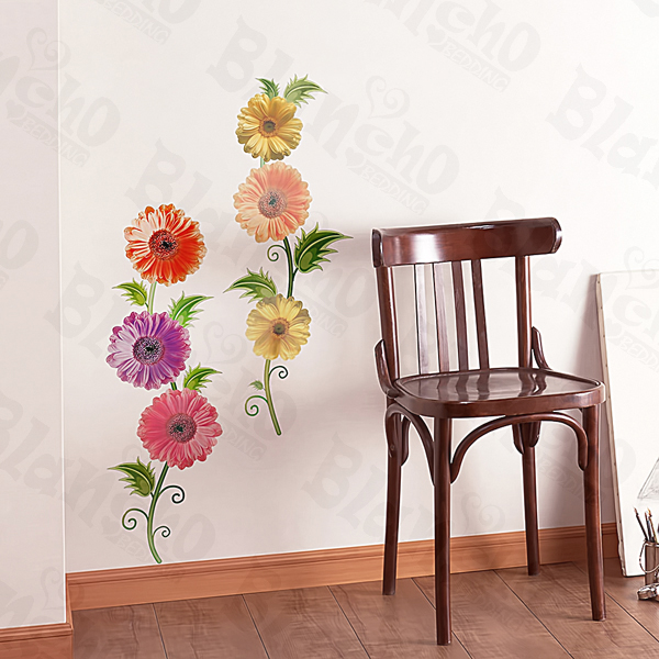 Flower Theme Wall Stickers - Wall Appliqués - Wall Decals | My
