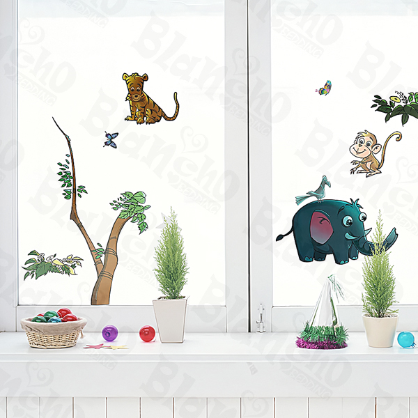 Animal Friends-5 - Medium Wall Decals Stickers Appliques Home Decor