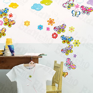 Sky Butterfly - Medium Wall Decals Stickers Appliques Home Decor