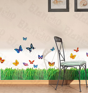 Flying Butterflies-1 - Medium Wall Decals Stickers Appliques Home Decor