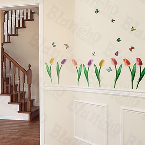 Flying Butterflies-3 - Medium Wall Decals Stickers Appliques Home Decor